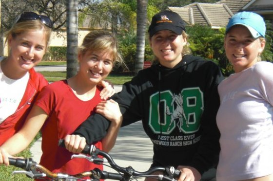 Biking with all my sisters