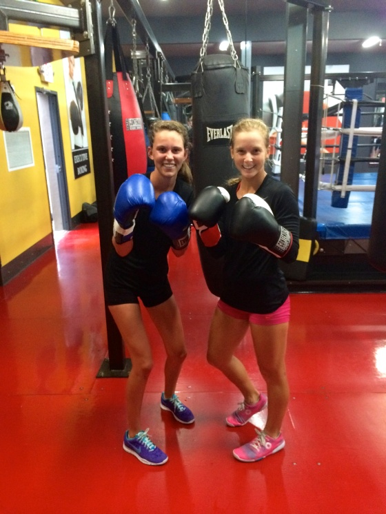 First time taking a boxing class!